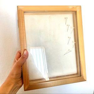 Shadow Box Display Case Frame Wood GUC